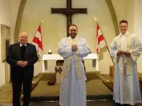 04 Zelebranten von links Pfarrer Hauck, Pfarrer S├Âder, Pfarrer Dr. Daigeler